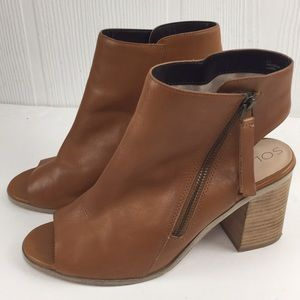 Sole Society Arizona Leather Tan Ankle Boots 9.5